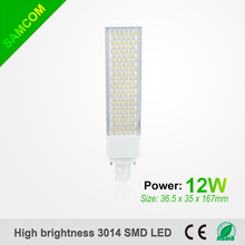 12w Rotatable 4pin LED Light Bulb G24 G23 PL Lamps