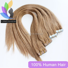 Cheap 100% Virgin Human Hair Pu Glue Skin Weft Hair Extension Pu Tape Hair Extensions