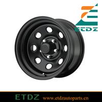 17x9 PCD 5x114.3 5x4.5 Black Steel Wheel / Rim