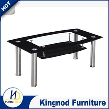 Cheap glass top stainless steel coffe tables, coffee table glass