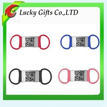 2015 Promotion Custom QR Code Silicone Pet Tags