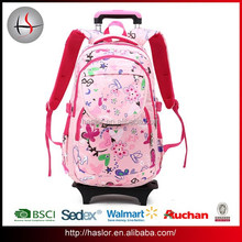2015 New Style Trolley Kids School Bag With Wheels For Girls Or Boys