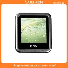 "ONN Q6 Ultra-Slim 1.5"" Screen MP3/MP4 Player with Recording FM -Silver(4GB)"