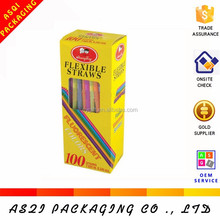 CMYK printed white cardboard school chalk box with saving material style