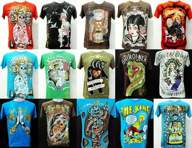 Wholesale shiroi tattoo ink art design gothic skull dead for Tattoo t shirts wholesale