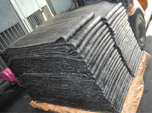 Uncured rubber sheet from tire compound plant