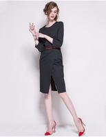 fashion dress plus size autumn women's clothing printed plaid dress for women