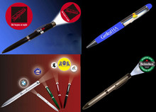 aluminum and plastic ABS led customed picture pen light to promotion