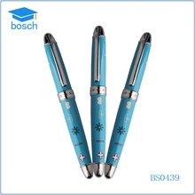 Hot selling Cheap Custom promotional blue roller ball pen with logo