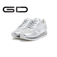 2015 New casual transparent lace-up light walking sneakers for athletic ladies