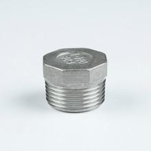"304 stainless steel npt fittings hex plug 21/2"""
