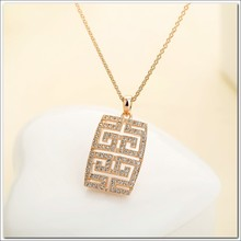 2015 unique design 18k gold plated big pendant necklace wholesale fashion jewelry