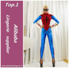 Full body blue womens latex sexy adult spiderman costume for sales