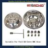 stainless steel 8 luguts 8 hangholes wheel simulators wheel covers