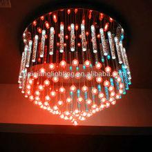 Iridescence fiber optic pendant light for home decoration