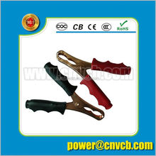 Car large alligator clips to battery clip cable