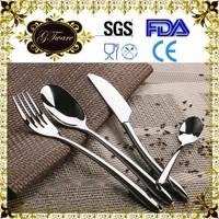 Starbucks Style Stainless Steel Western Dinnerware Sets Table Utensils Fork knife spoon