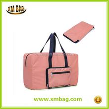 Lightweight nylon waterproof foldable travel bag large organizer tote bag