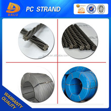 12.7mm 1*7 wire prestressed concrete steel strand, metal building material, construction and real estate