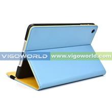 For iPad mini case leather, folio case for iPad mini 3