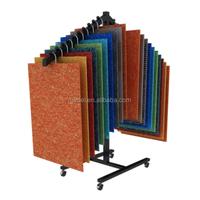 Knock Down Folding Carpet Rolling Display Rack