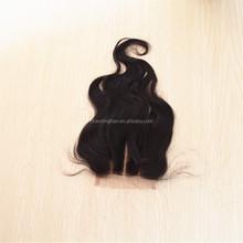 3 part brazilian human hair remy top closure piece