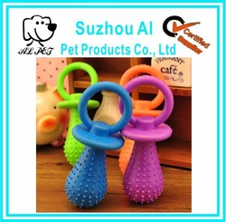 Pet Pacifier Style Small Bell Rubber Dog Toy