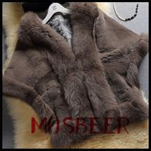 New Style Rex Rabbit Fur And Fox Fur Shawl Wedding Dress/Fur Garment For Sale