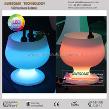 Beer cup shape Rechargeable LED Ice Bucket with Color Change Remote