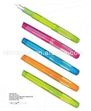 Translucent colorful plastic fountain pen