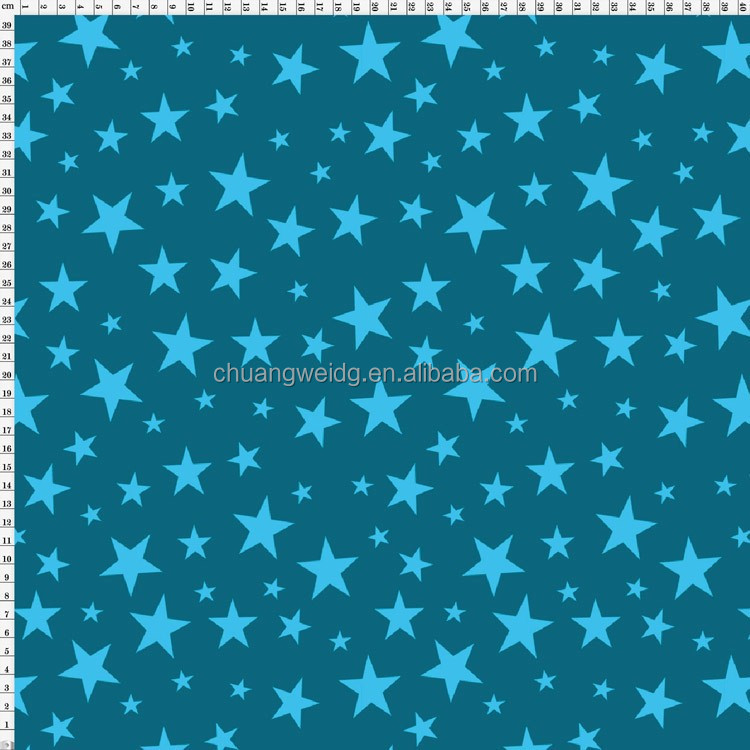 Polyester spandex print black ande white star pattern for Star design fabric