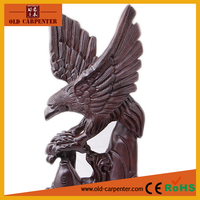 High quality precious timber Monzo wood carvings Grand Plans Animal sculpture Eagle wholesale christmas ornament suppliers
