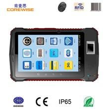 7-inch Quad-core WiFi WCDMA 3G rugged barcode scanner, fingerprint reader android tablet 5m rfid reader