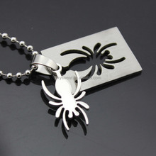 Fashion pendant unique best friend jewelry stainless steel The spider shadow jewelry necklace Accessories