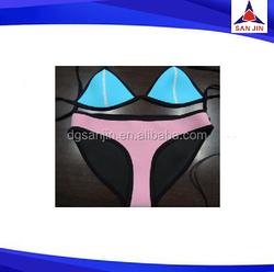 neoprene open hot sex girl bikini underwear photo for women