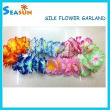 Artificial Hawaiian Flower Lei, Artificial Flower Necklace