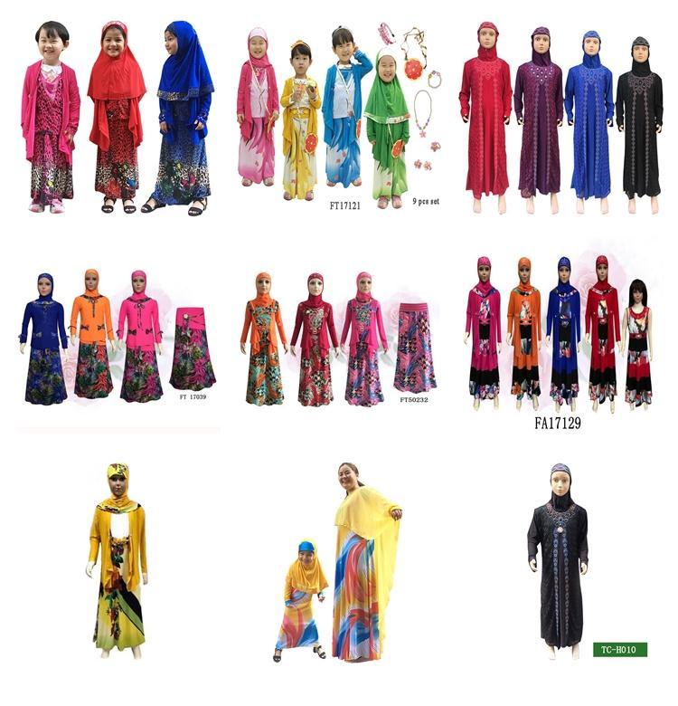 Kids abaya muslim robe saudi abayas
