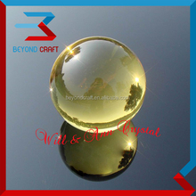 yellow crystal glass ball ,krystal sphere ball paperweight