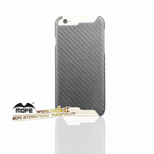 Mofe New Arrival Carbon Fiber Mobile Phone Cover For Iphon 6 Black Protect shell