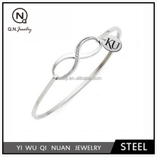Kansas Jayhawks Stainless Steel Infinity Bracelet