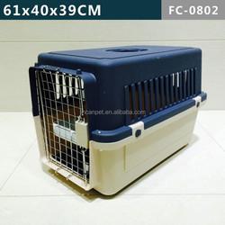 Dark blue Dog Flight Carrier with 4 sides ventilation