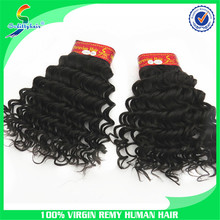 100% 7A short hair Brazilian Funmi human hair weave loose deep wave hair weave