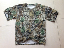 Cotton Soft Outdoor Military Combat T-shirt Real Tree Camo Tactical Hunting Clothing