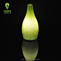 5w Power Source rechargeable glass Material color changing vase table lamp