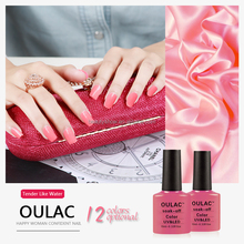 Oulac summer colors new nails manicure design nails supplies, private label, led uv gel polish