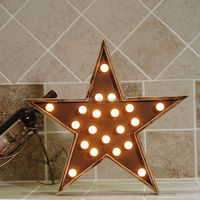 LS140642 Lighted Wooden Star