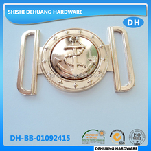 wholesale fancy metal anchor shape joint buckles, decorative two piece belt buckle for lady