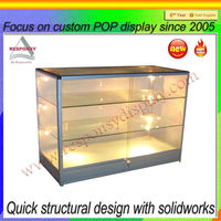 High quality glass rack cake acrylic display stand with light