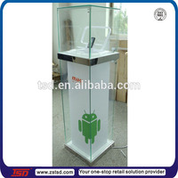 TSD-W803 Android store acrylic glass display cabinet/floor lighting mobile phone display cabinet/mobile phone display stand