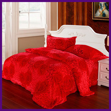 polyesterking/queen size wedding bedsheet wholesale